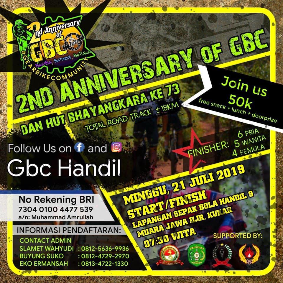 2nd Anniversary GBC & HUT BHAYANGKARA Ke-73